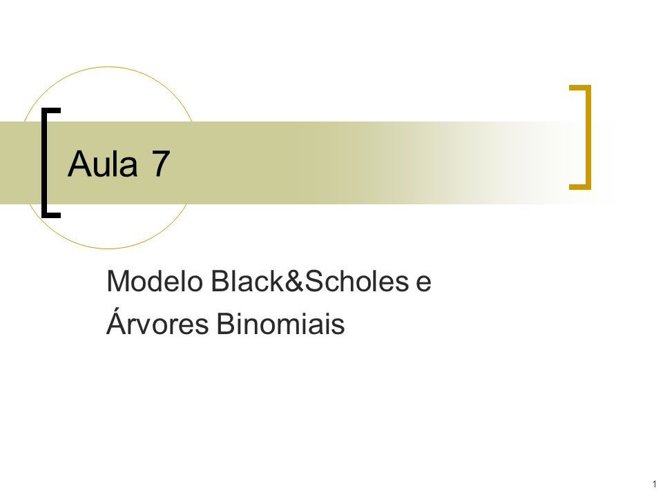 Modelo Black&Scholes e Árvores Binomiais