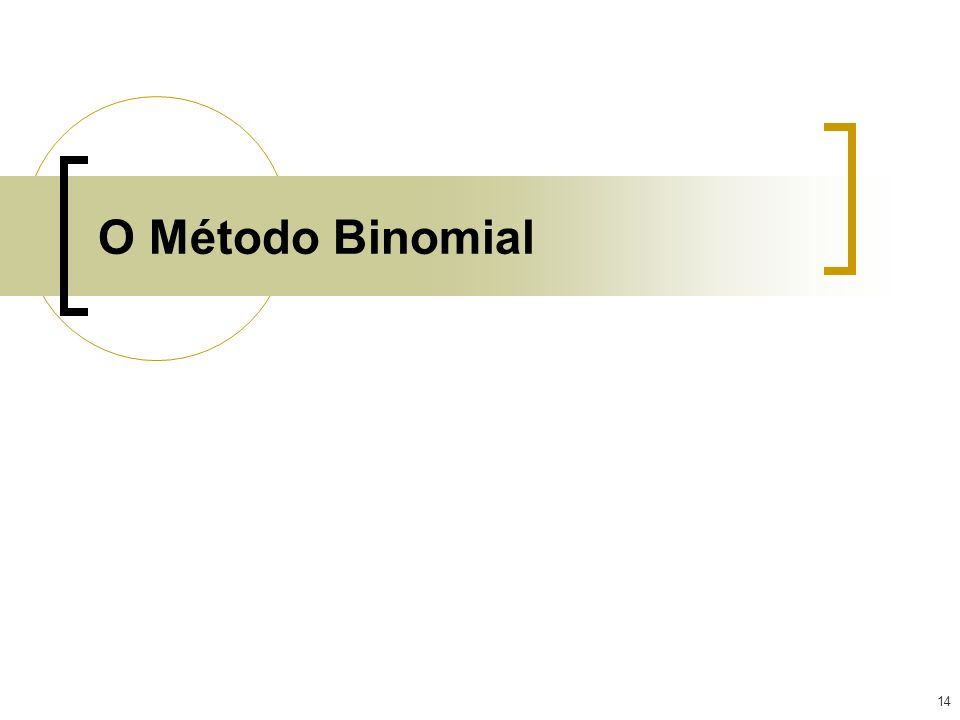 O Método Binomial