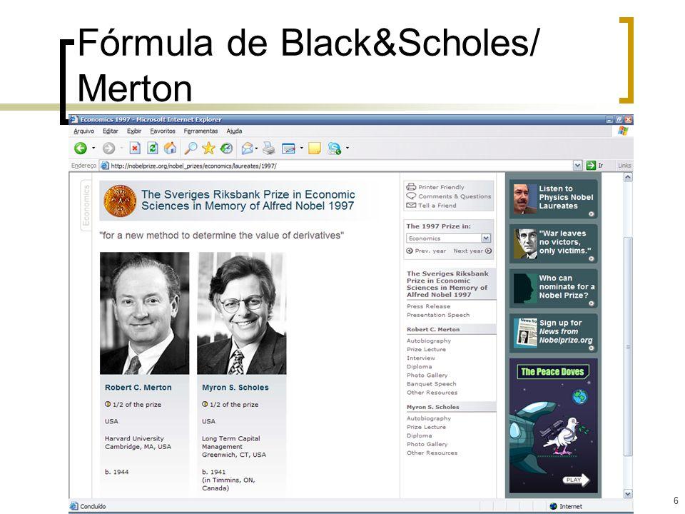 Fórmula de Black&Scholes/ Merton