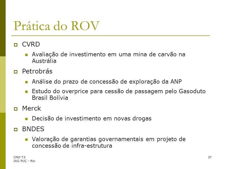 Prática do ROV CVRD Petrobrás Merck BNDES