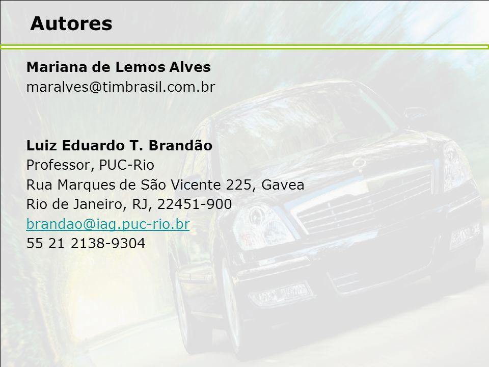 Autores Mariana de Lemos Alves maralves@timbrasil.com.br