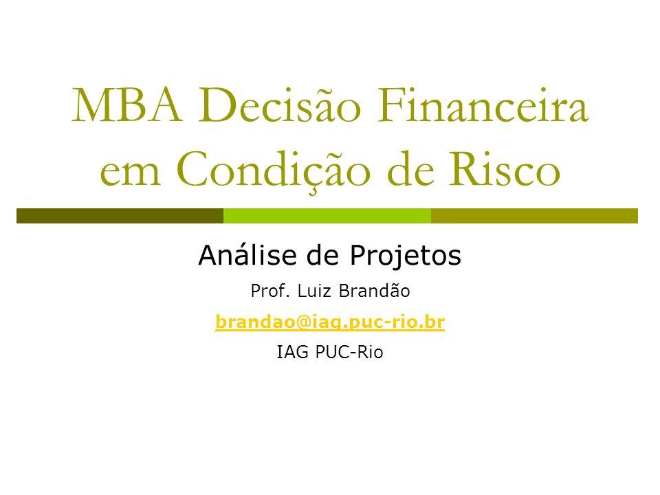 MBA Decisão Financeira em Condição de Risco