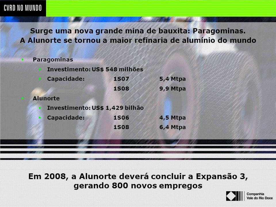 Em 2008, a Alunorte deverá concluir a Expansão 3,