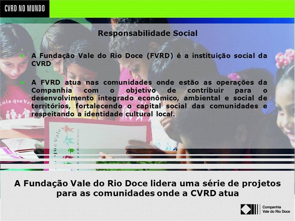 A Fundação Vale do Rio Doce lidera uma série de projetos