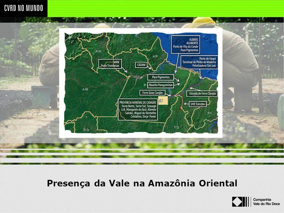 Presença da Vale na Amazônia Oriental
