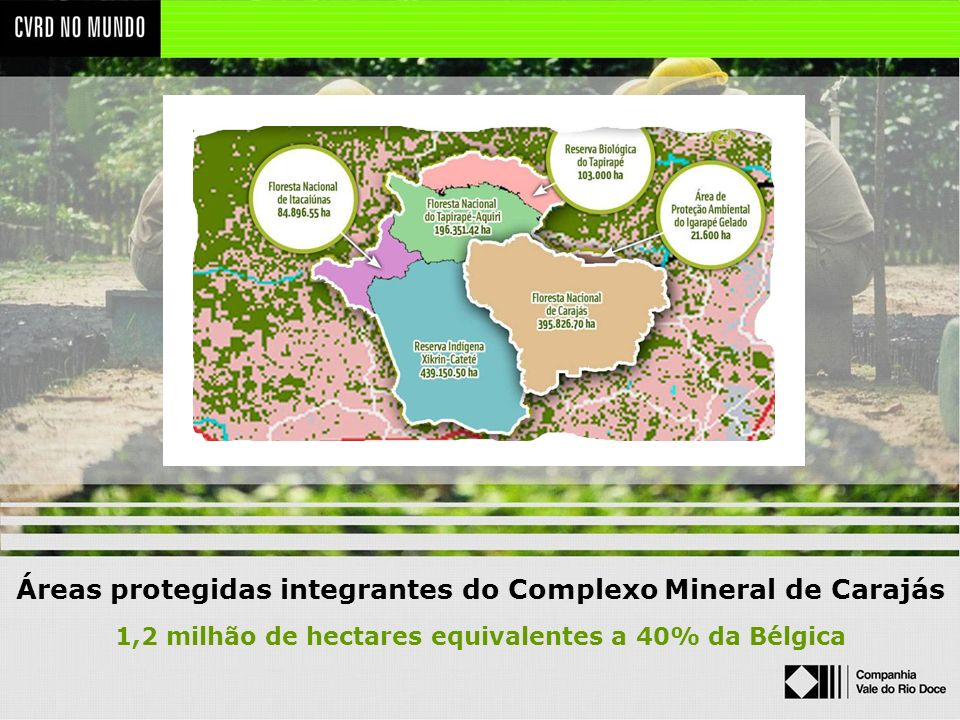 Áreas protegidas integrantes do Complexo Mineral de Carajás