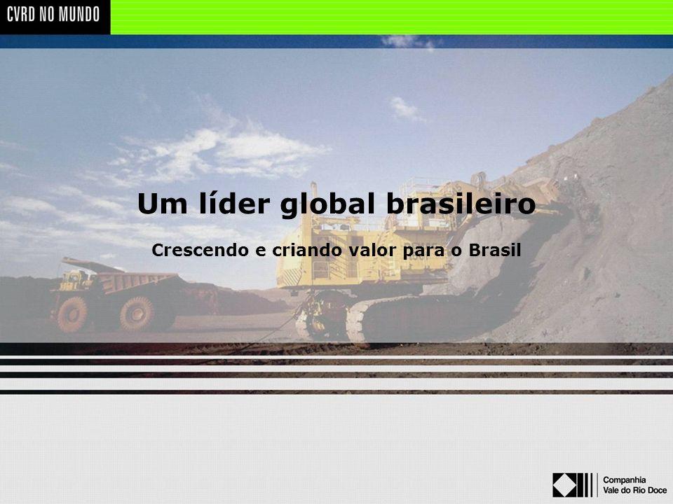 Um líder global brasileiro Crescendo e criando valor para o Brasil