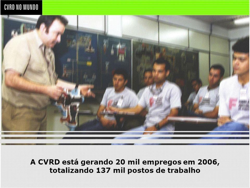 A CVRD está gerando 20 mil empregos em 2006,