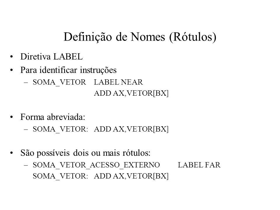 Definição de Nomes (Rótulos)