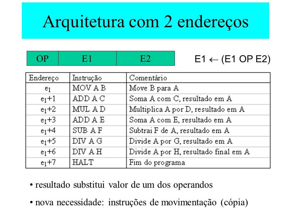 Arquitetura com 2 endereços
