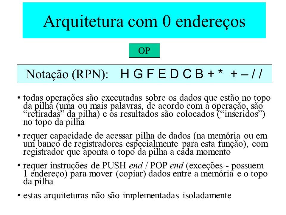 Arquitetura com 0 endereços