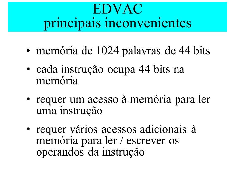 EDVAC principais inconvenientes