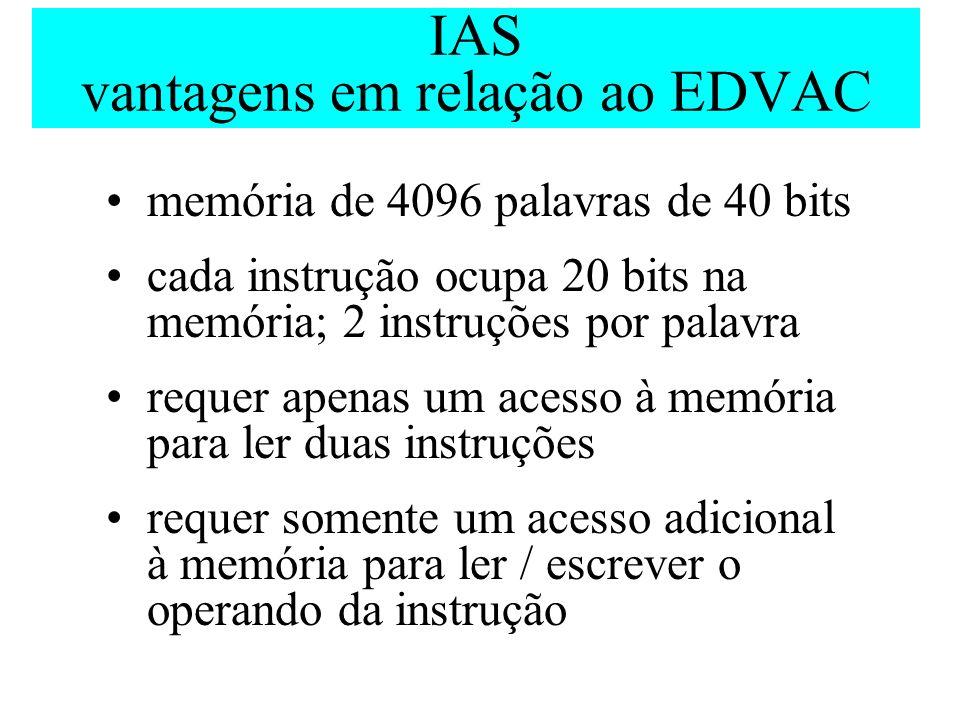 IAS vantagens em relação ao EDVAC