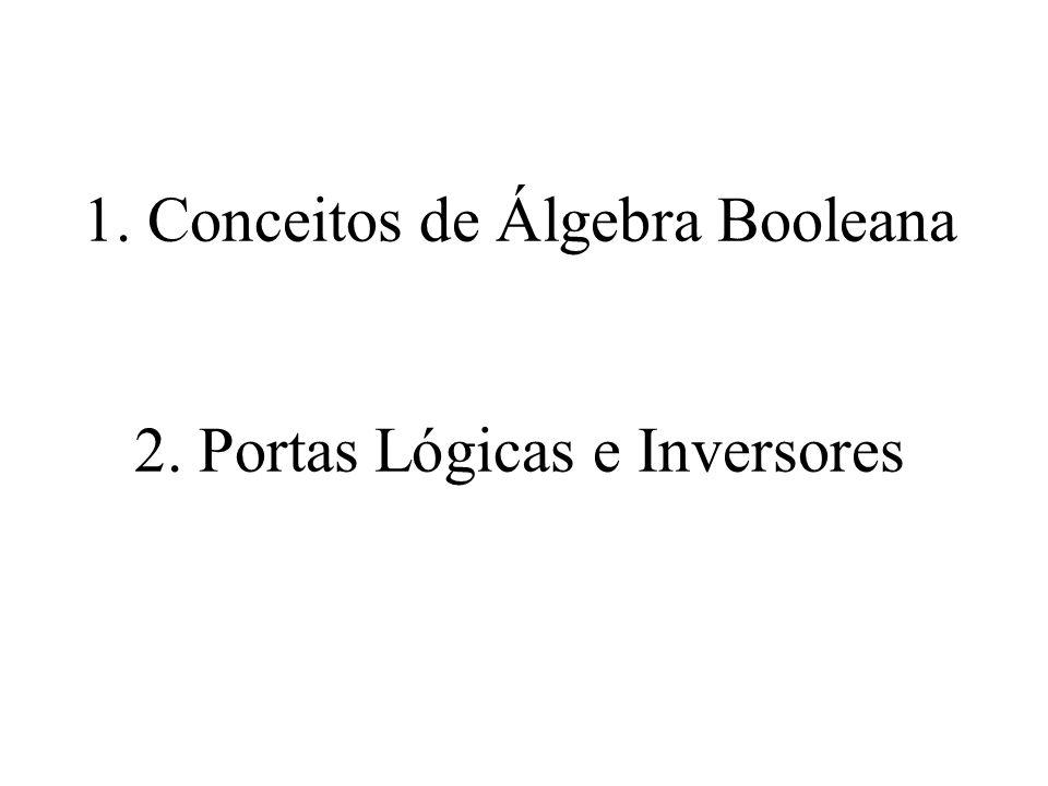 1. Conceitos de Álgebra Booleana 2. Portas Lógicas e Inversores