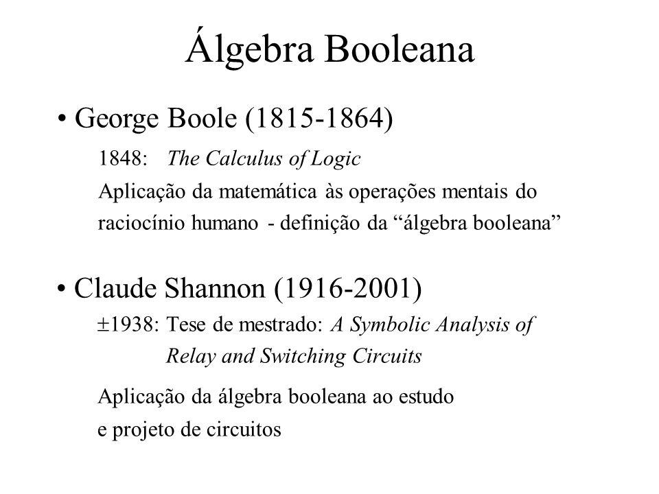 Álgebra Booleana George Boole (1815-1864) Claude Shannon (1916-2001)