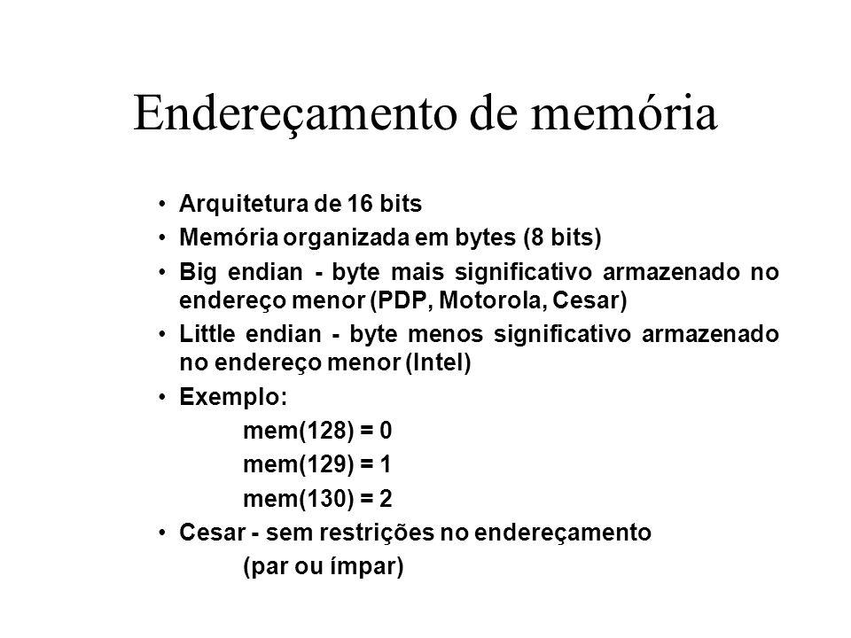 Endereçamento de memória