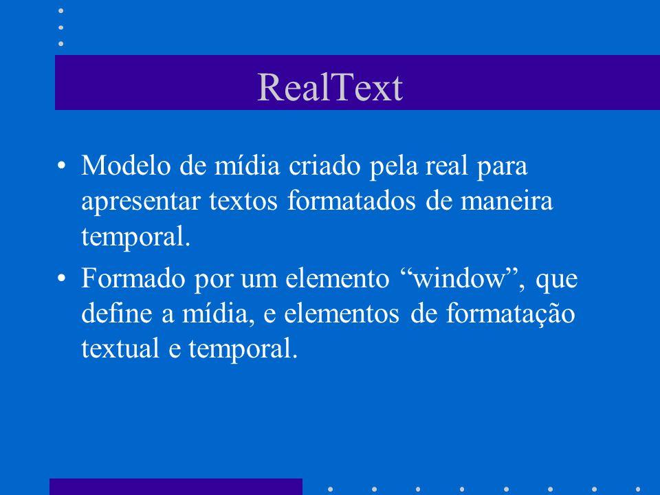 RealText Modelo de mídia criado pela real para apresentar textos formatados de maneira temporal.