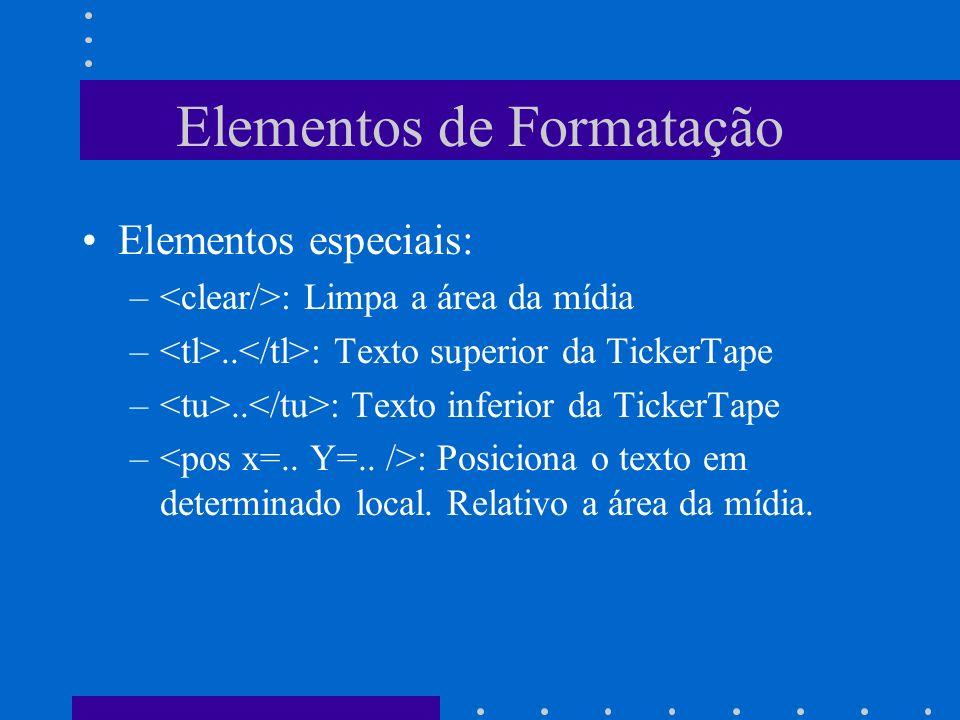 Elementos de Formatação