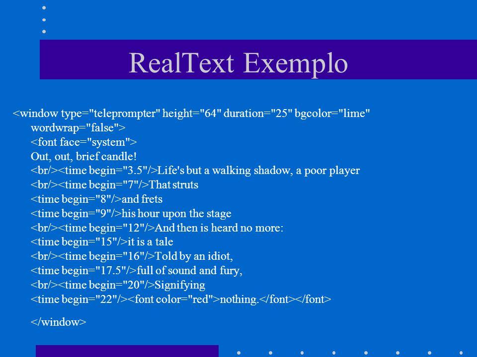 RealText Exemplo