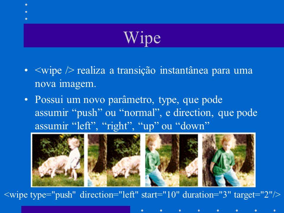 Wipe <wipe /> realiza a transição instantânea para uma nova imagem.