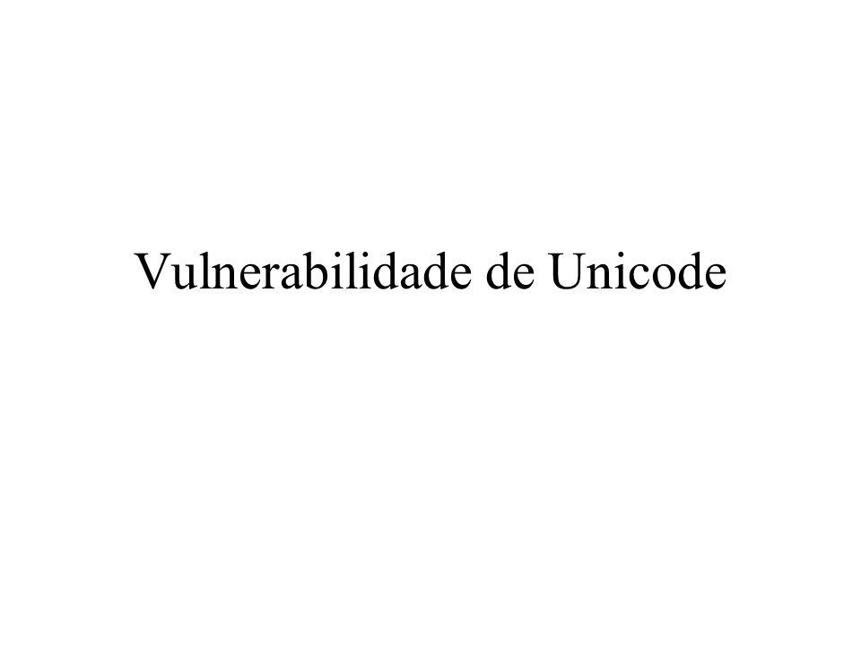 Vulnerabilidade de Unicode