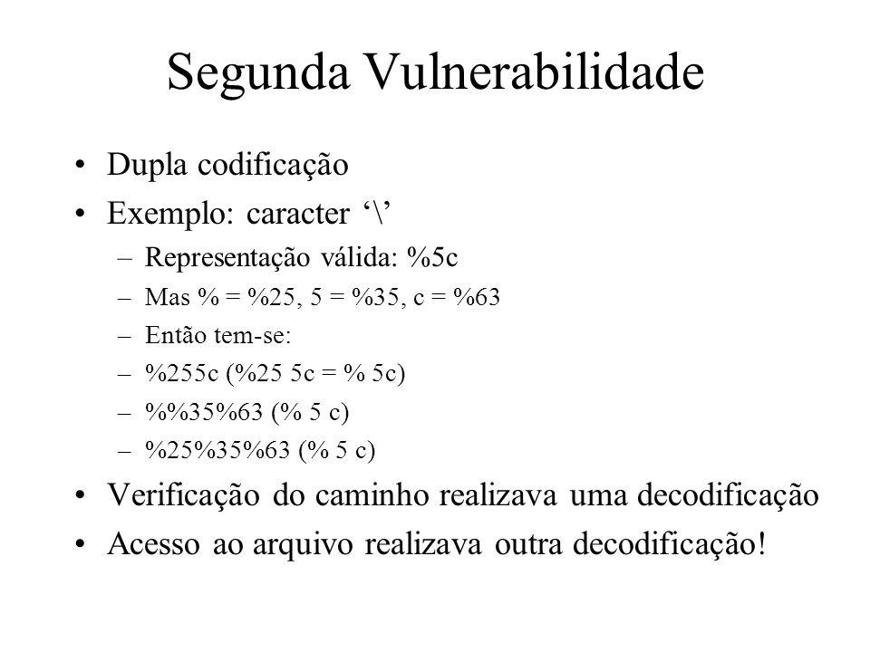 Segunda Vulnerabilidade
