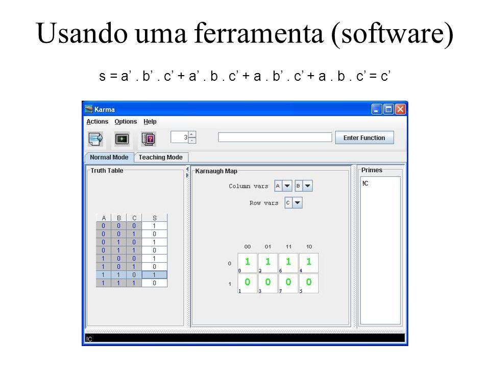 Usando uma ferramenta (software)