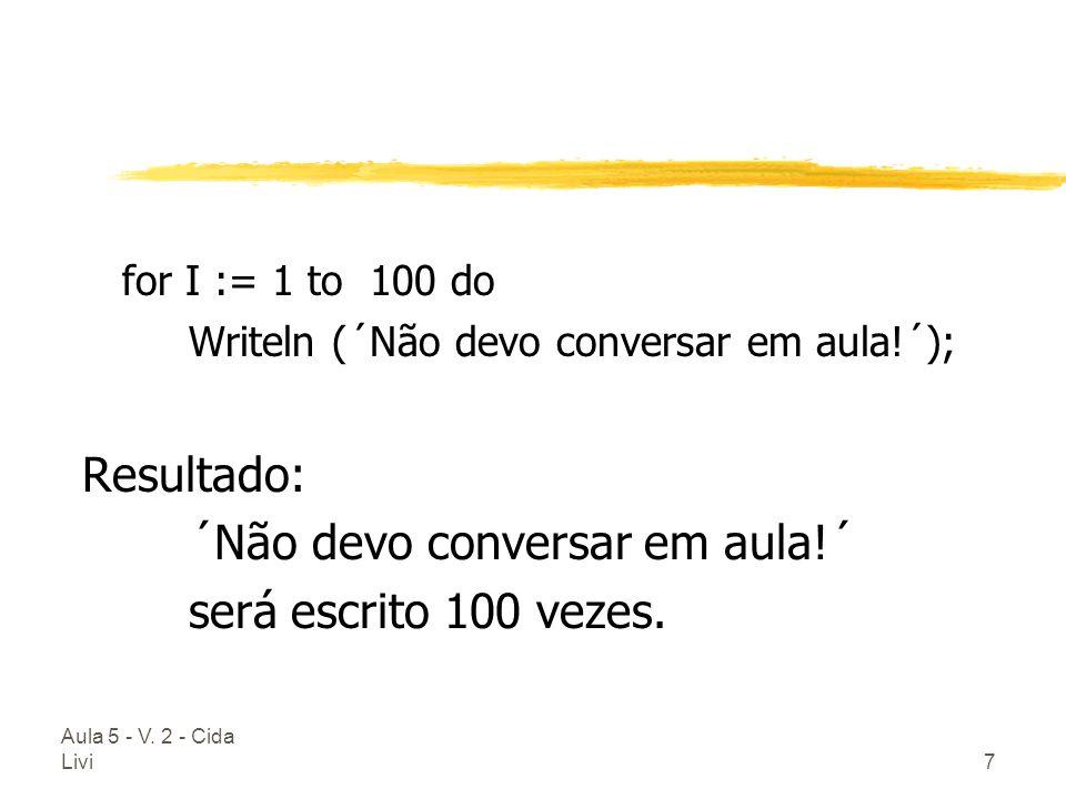 ´Não devo conversar em aula!´ será escrito 100 vezes.