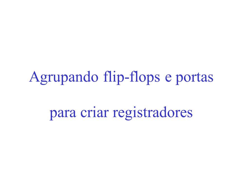Agrupando flip-flops e portas para criar registradores