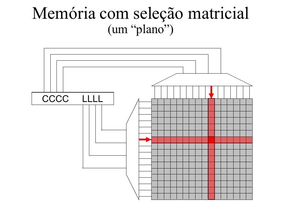 Memória com seleção matricial (um plano )