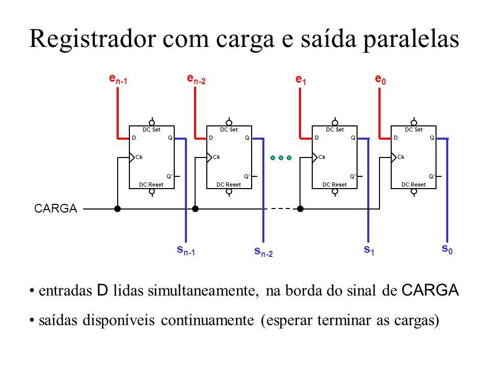 Registrador com carga e saída paralelas