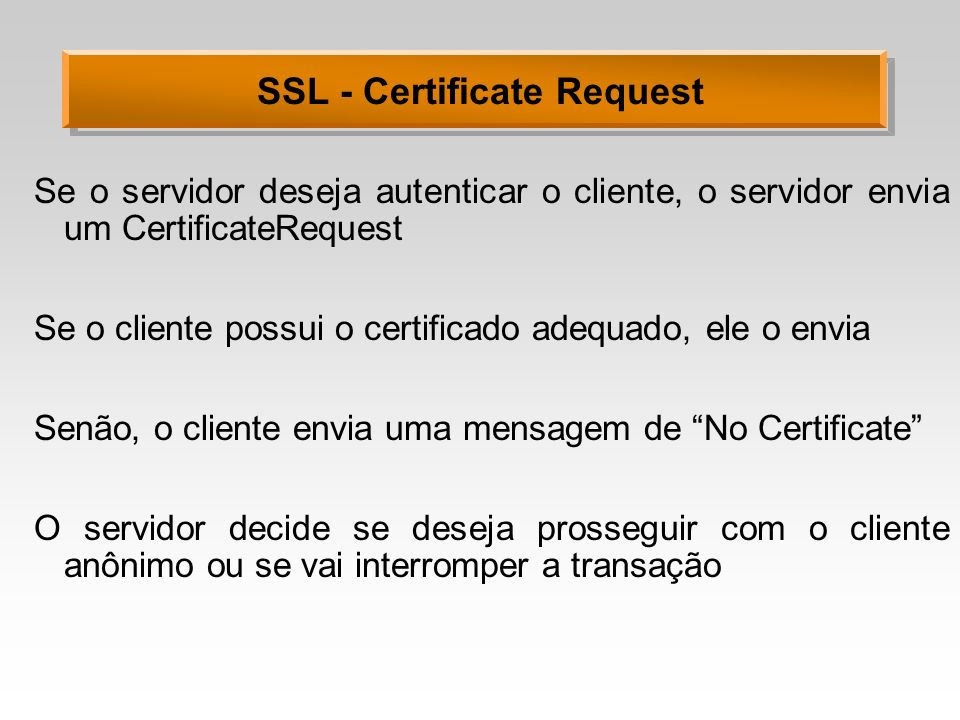 SSL - Certificate Request
