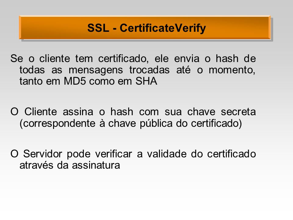 SSL - CertificateVerify
