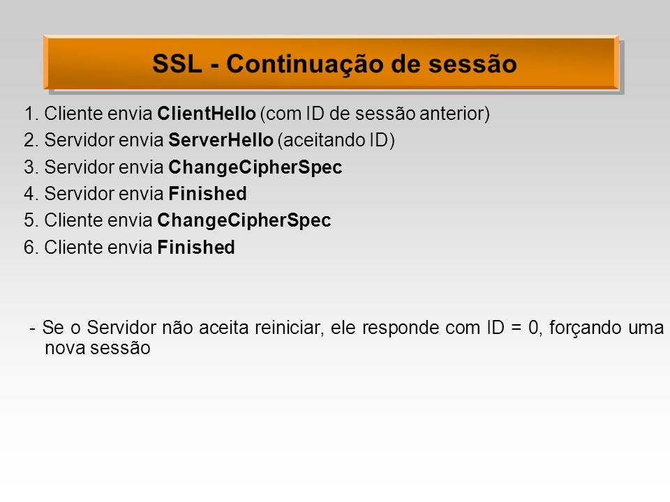 SSL - Continuação de sessão