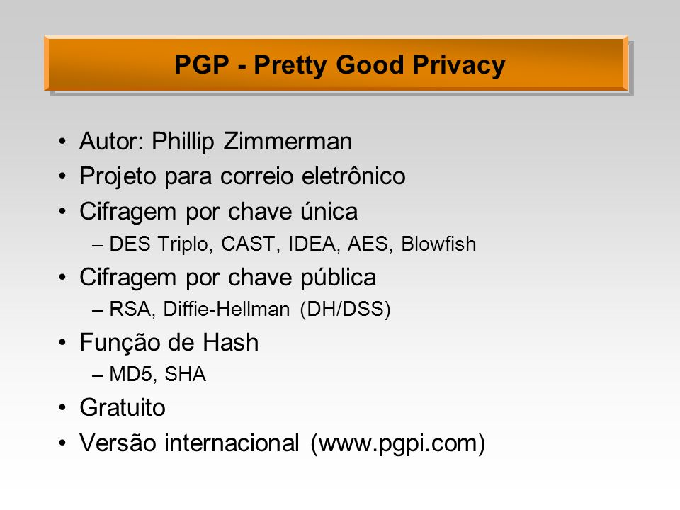 PGP - Pretty Good Privacy