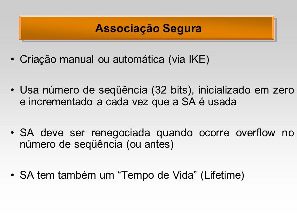 Associação Segura Criação manual ou automática (via IKE)