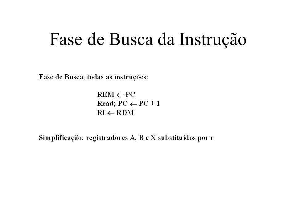 Fase de Busca da Instrução