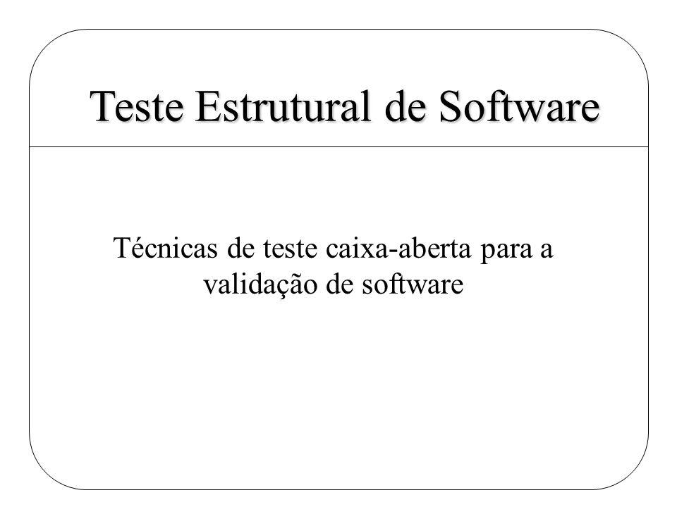 Teste Estrutural de Software