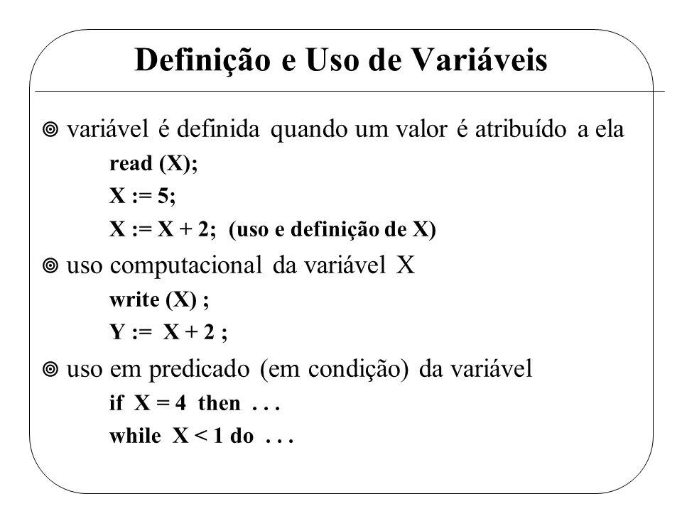 Definição e Uso de Variáveis