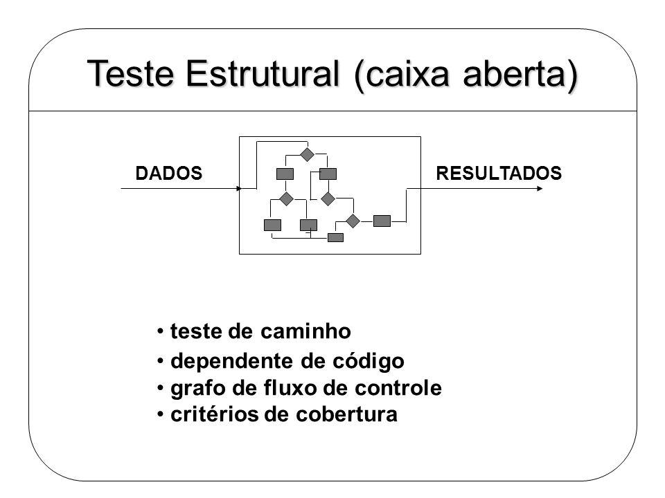 Teste Estrutural (caixa aberta)