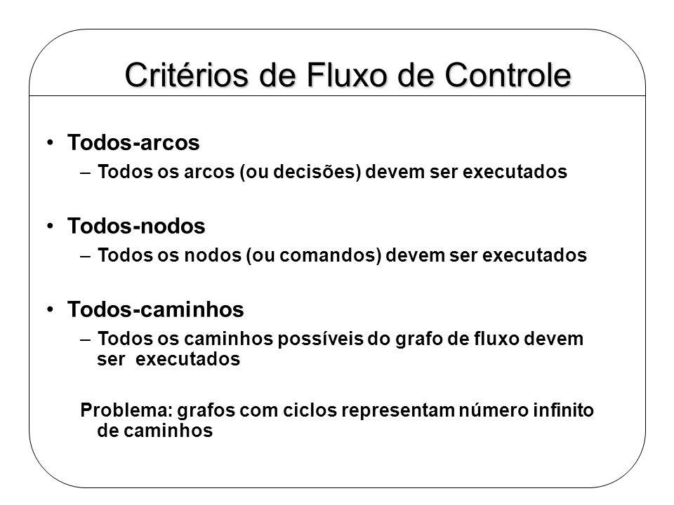 Critérios de Fluxo de Controle