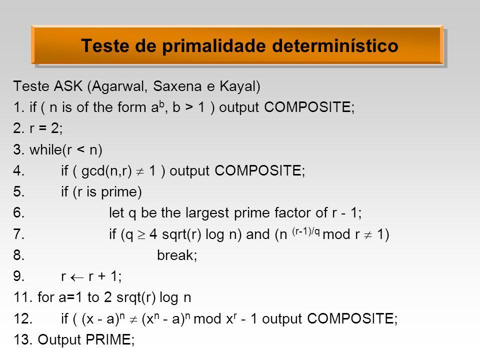 Teste de primalidade determinístico