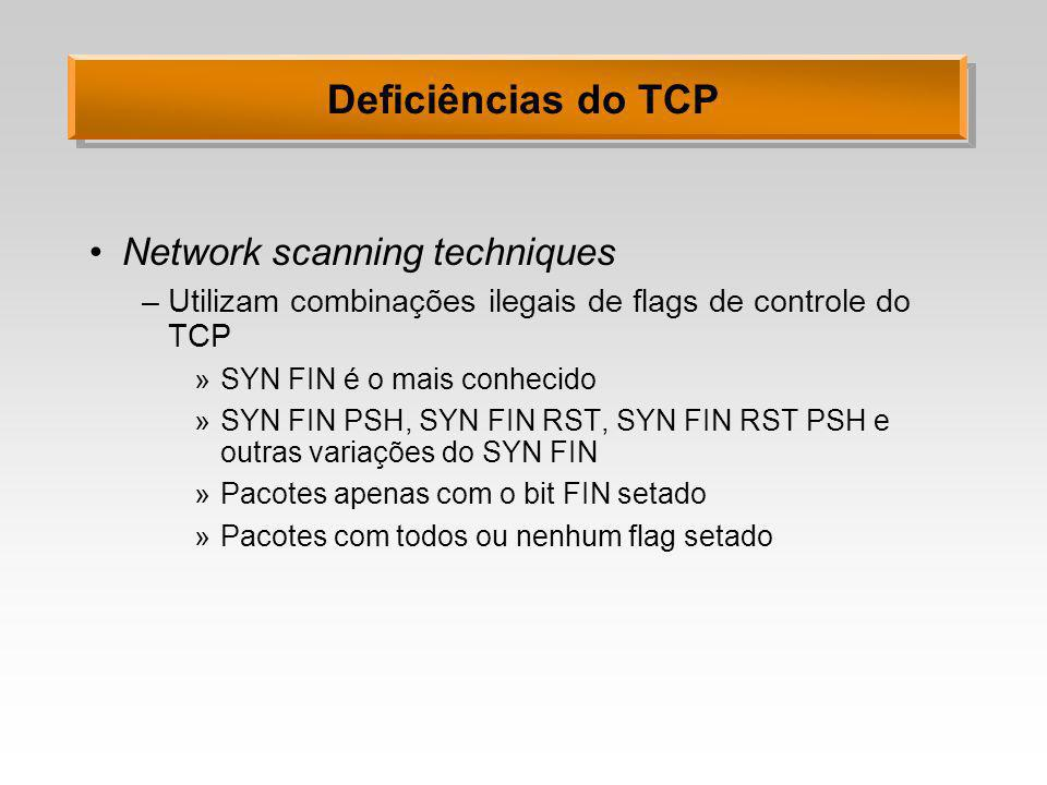 Deficiências do TCP Network scanning techniques