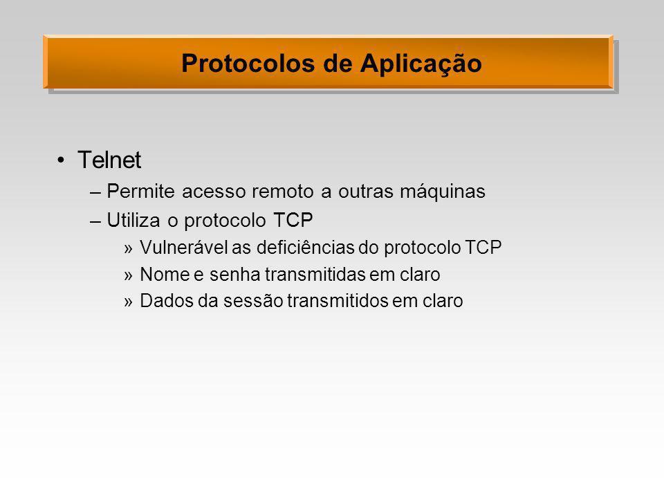 Protocolos de Aplicação