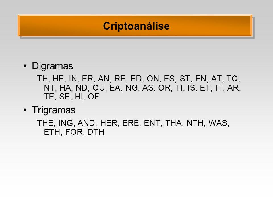 Criptoanálise Digramas Trigramas