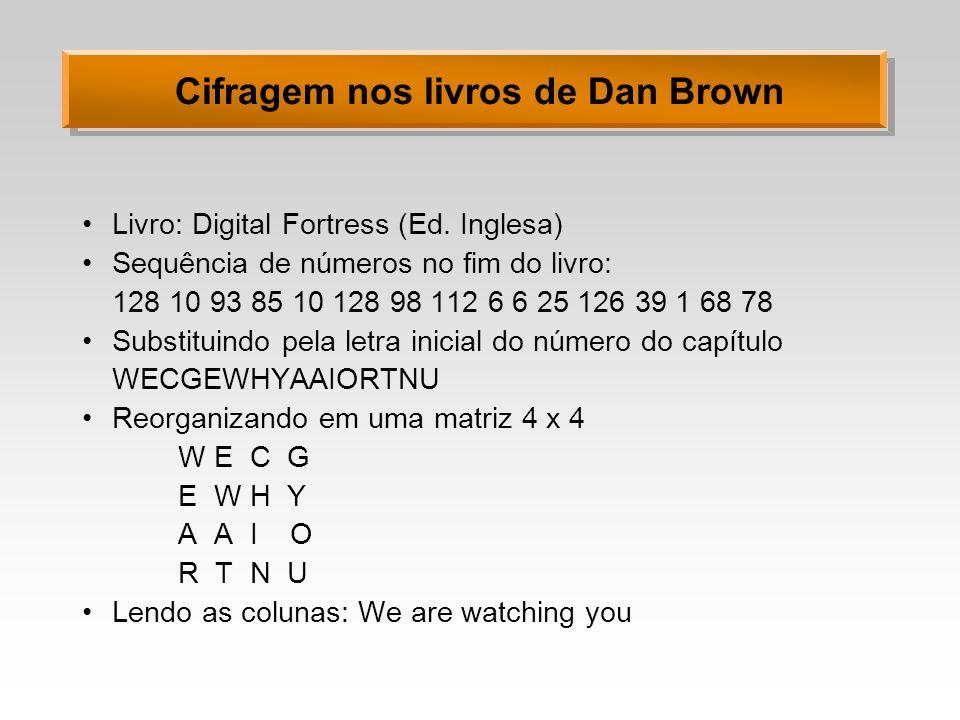 Cifragem nos livros de Dan Brown
