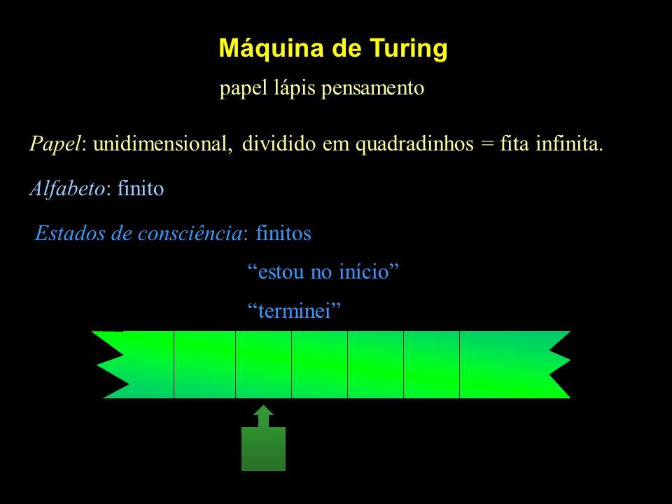 Máquina de Turing papel lápis pensamento