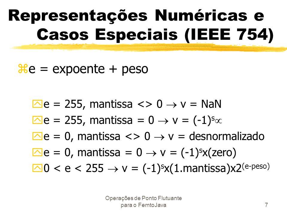 Representações Numéricas e Casos Especiais (IEEE 754)