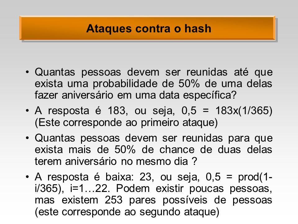 Ataques contra o hash