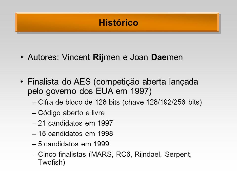 Histórico Autores: Vincent Rijmen e Joan Daemen
